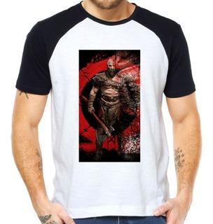 Camisetas Ps5 Kratos God Of War Camisas Xbox Cratos Raglan