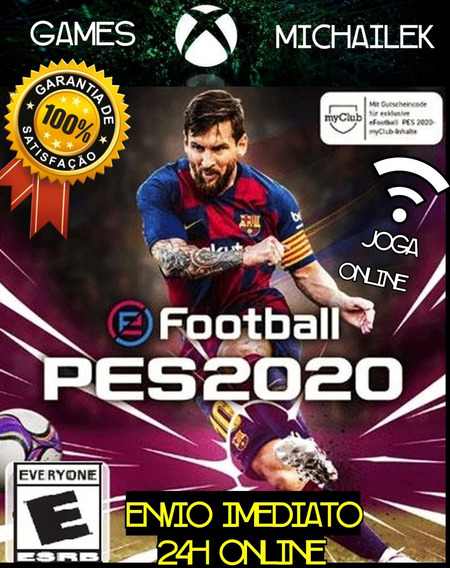 Pes 20 Mídia Digital Xbox One + Jogo Brinde