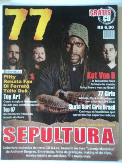Revista:77+cd:+poster Do Sepultura,pitty,di Ferrero:rock