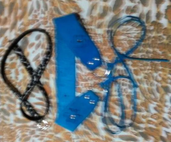 Lote De 2 Cinturones: Ancho -tipo Faja- + Animal Print