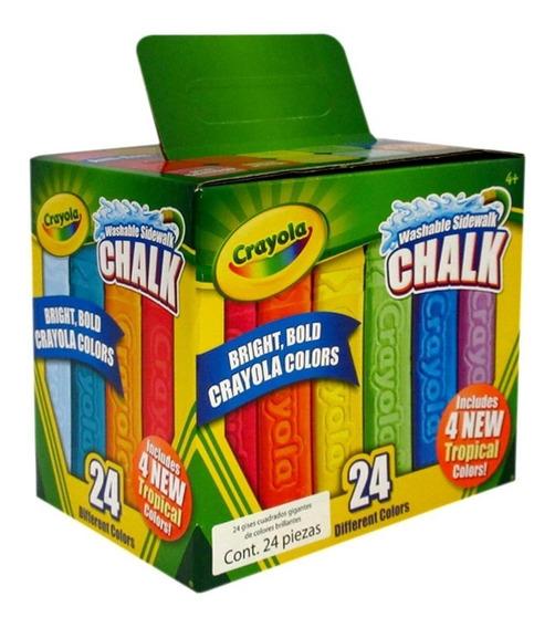 Set De 48 Gises Lavables Gigantes Crayola (2 Cajas De 24)