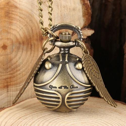 Imagen 1 de 5 de Reloj Collar Snitch Me Abro Al Cierre Harry Potter Colección