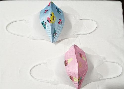 Imagen 1 de 2 de Cubrebocas Para Bebés Colores Rosa Y Azul