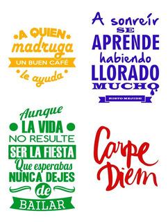 Vinilos Decorativos Pared Frases Motivadoras Personalizados