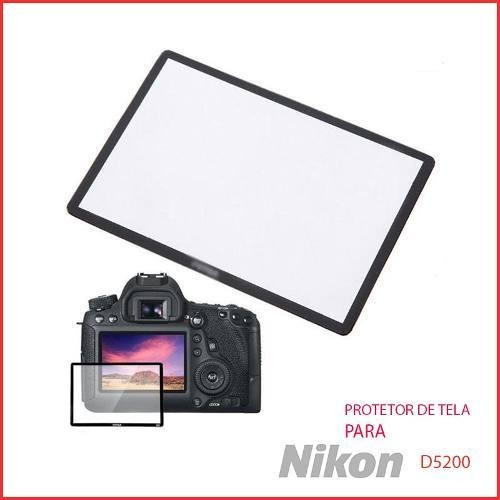 Protetor Proteção Tela Lcd Vidr Optic Camer Maq Nikon D5200