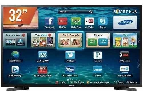 Smart Tv Led 32`` Hd Samsung 2 Hdmi 1 Usb Wi-fi - Bivolts