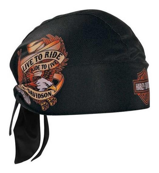 Harley Davidson Skull Cap Touca Bandana Boné Live To Ride