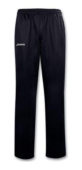 Pants Largo Poliester Negro Joma