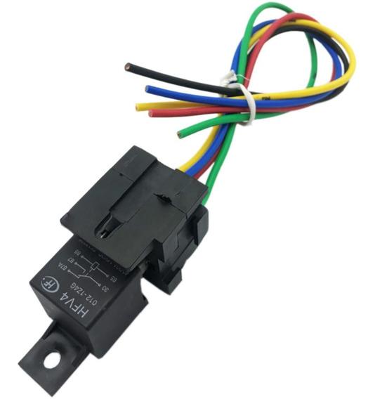Relé Hfv4 Fk17236 Para Rastreador + Chicote 28 Cm Para Rastreador Localizador E Alarmes Gps De Carro - Importado - Novo