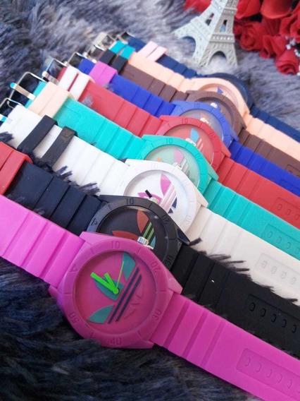 Kit 10 Relógios adidas Silicone, Caixa Fechada!