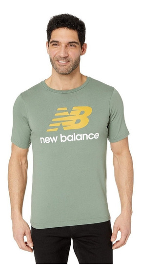 Remera New Balance Essentials Stacked Vde Envio Caba Y Bs As
