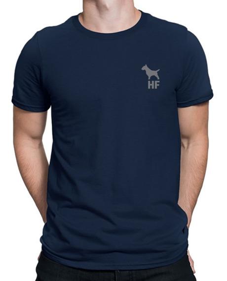 Remera Bull Terrier Hf ® Azul 100% Serigrafia