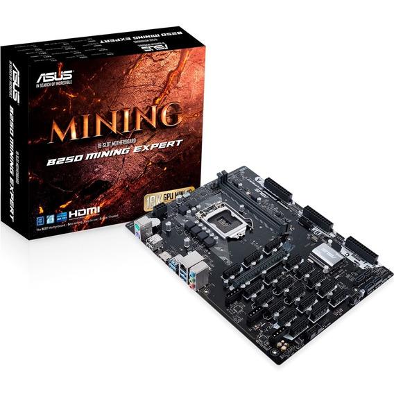 Placa Mãe De Mineração B250 Mining Expert 19 Pci