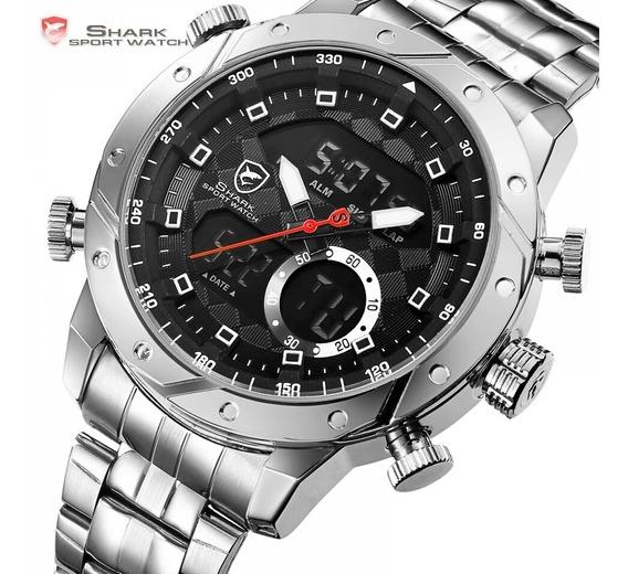 Relógio Masculino Shark Sh590 Militar Original Promoção Novo