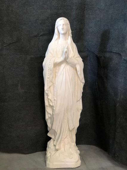 Estatua Virgen De Lourdes 105 Cms Color Piedra París