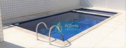Apartamento Com 2 Dormitórios À Venda, 60 M² Por R$ 270.000,00 - Canto Do Forte - Praia Grande/sp - Ap0820