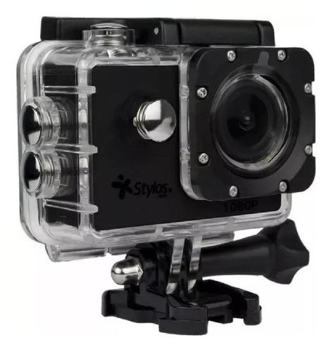 Cámara deportiva Stylos Cam2 Full HD STVACX3 negra