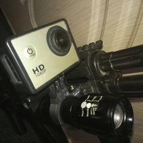 Suporte Lanterna Gopro 3 4 5 6 Session Airsoft Trilho 20mm