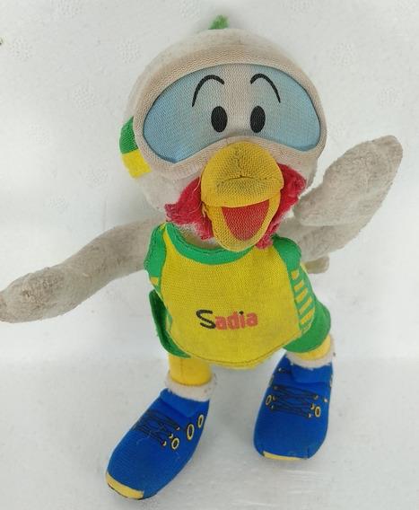 Pelúcia Boneco Mascote Peru Frango Da Sadia 16 Cm Usado