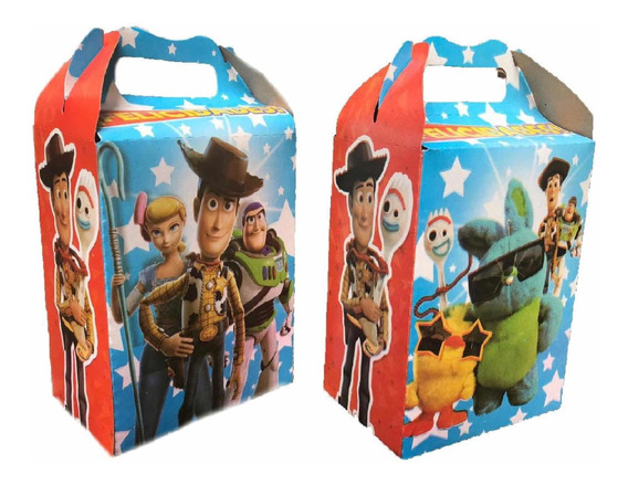 50 Cajas Dulceras Toy Story 4 Fiesta Bolo Full
