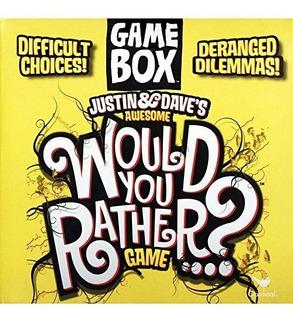 Justin &dave S Awesome Prefiere? Juego Caja