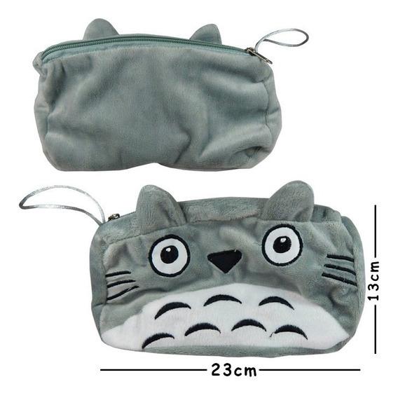 Totoro Lapicera Peluche Cosmetiquera Monedero
