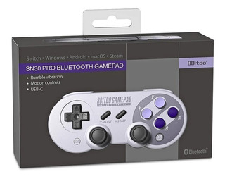 Snes Controle Bluetooth Super Nintendo Nes Sn30 Nes30 Pro