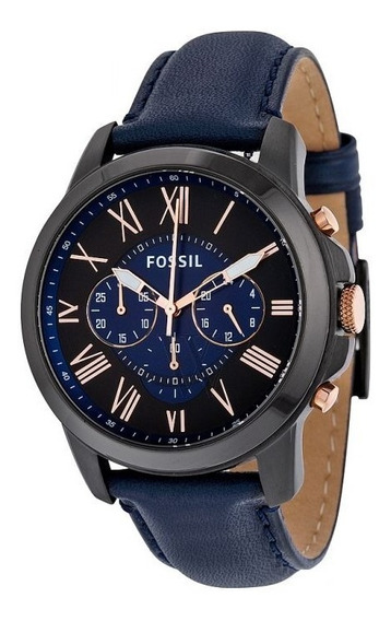 Relógio Fossil Grant Black And Blue Fs5061