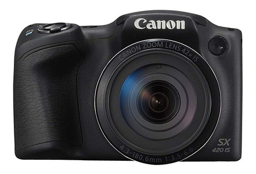 Canon PowerShot SX SX420 IS compacta avançada cor  preto