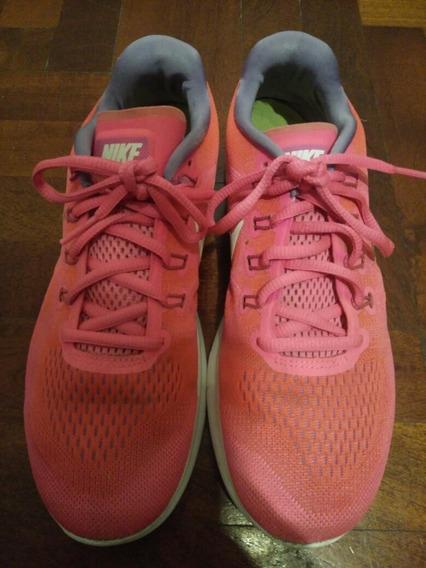 Zapatillas Nike Free Rn Rosa Running Talle 39.5 Arg 9 Us