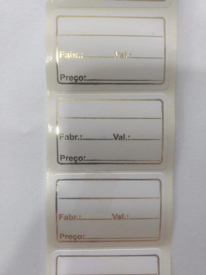 Etiqueta Adesiva Data E Validade Rolo 1000 Unidades Branca