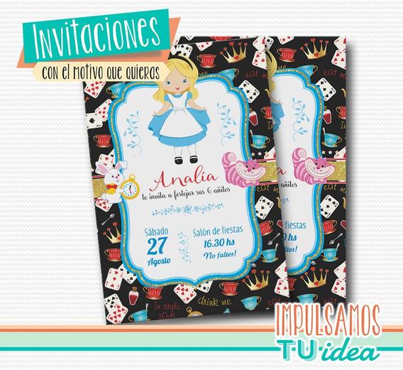 Cumple Alicia - Invitación Alicia En El País De Las Maravill