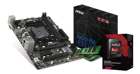 Combo Actualización Pc Amd A6 7480 3.8ghz A68 Fm2 4gb C1 !!