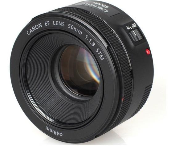 Lente Canon Ef 50mm F/1.8 Stm Revenda Autorizada Canon