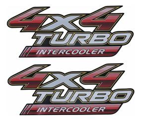 Par Adesivos Emblema Picape Toyota Hilux Turbo Intercooler