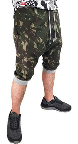 Bermuda Saruel Masculina Swag Tatico M16 Camuflado Hip Hop