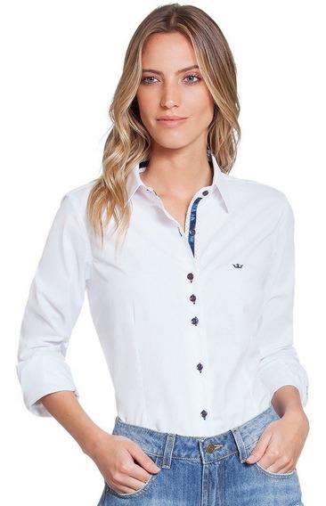 Camisa Social Feminina Branca Principessa Scarlett