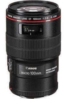 Lente Canon Ef 100mm F/2.8l Macro Is Usm - Cinta Roja Nuevo