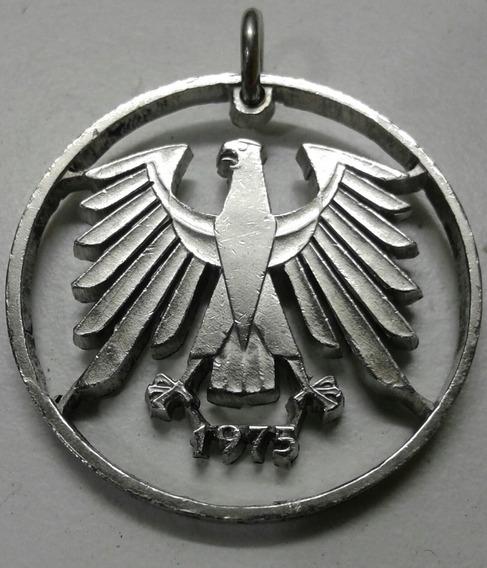 Imponente Moneda De Alemania, Calada A Mano A24