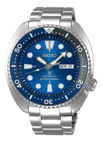 Relógio Seiko Turtle Prospex Edição Save The Ocean Srpd21b1