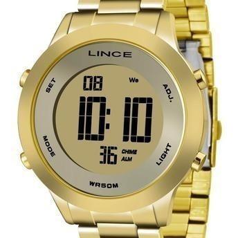 Relógio Lince Dourado Sdph037l Kxkx Original Novo Lançamento
