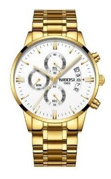 Relógios Nibosi Marca De Luxo Malha De Aço À Prova D