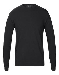Sweaters Hombre Entallado Cuello Redondo Vestir Lisos Import