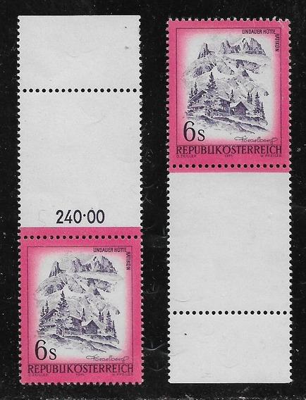 Austria 2 Estampillas Mint #1305 Yv Con Complemento Año 1975