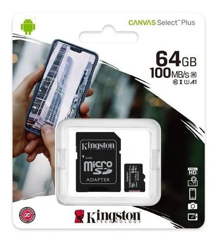 Memoria Micro Sd Kingston Externa 64 Gb Clase 10 - Otec