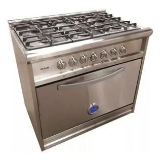 Cocina Industrial 6 Hornallas Acero 90 Irina 3230 R.f. Usman