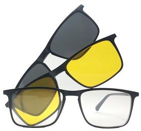 61b879df7 Armação De Óculos Clip On Polarizado E Night Driver Promoção