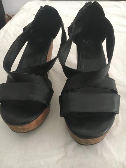 Zapatos Zuecos De Mujer Maria Vazquez T.38