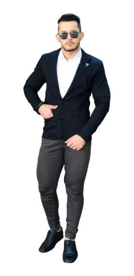 Blazer Slim Fit Preto Tradicional Frete Grátis 12x Sem Juros