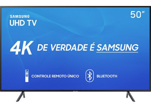 Smart Tv Led 50 Samsung 50ru7100 Ultra Hd 4k Com Conversor